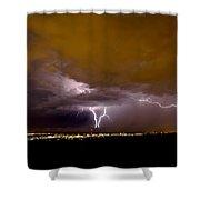Lightning 13 Shower Curtain
