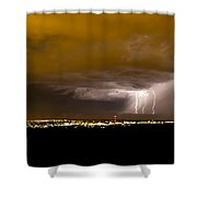 Lightning 17 Shower Curtain