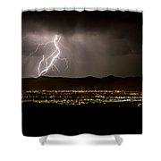 Lightning 4 Shower Curtain