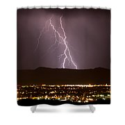 Lightning 5 Shower Curtain