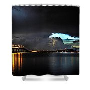Lightning And The Cerulean Sky Shower Curtain