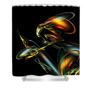 Lightning Bug Shower Curtain