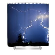 Lightning In Montrose Colorado Shower Curtain