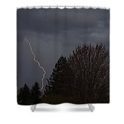 Lightning Over Grants Pass Shower Curtain