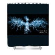 Lightning Phoenix Shower Curtain