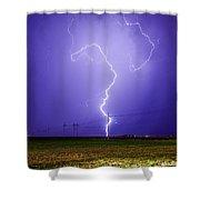 Lightning Strike Shower Curtain