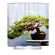 Lightning Strikes Again Shower Curtain