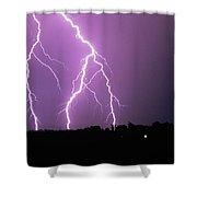 Lightning Striking During A Storm Shower Curtain
