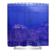 Lightning Strkes At The North Rim Grand Canyon National Park Shower Curtain