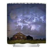 Lightning Thunderstorm Busting Out Shower Curtain