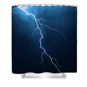 Lightning With Cloudscape Shower Curtain by Johan Swanepoel