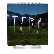 Lightpainting Image Spelling The Word Shower Curtain
