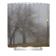 Lights And Fog Setting The Mood Shower Curtain