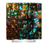 Lights And Fractures Shower Curtain