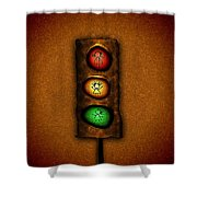 Lights At The Crossing Shower Curtain by Gianfranco Weiss