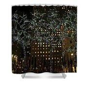 Lights In Rockefeller Center Shower Curtain