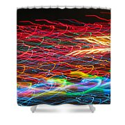 Lights In The Fast Lane Shower Curtain