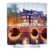 Lights Of Amsterdam Shower Curtain
