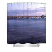 Lights On The Pier Shower Curtain