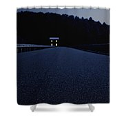 Lights On Up Ahead Shower Curtain by Edward Fielding