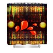 Lights_bleed Shower Curtain