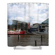 Lightship 116 - Baltimore Harbor Shower Curtain