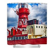 Lightship Lv15 Trinity Shower Curtain