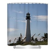 Ligthouse - Key Biscayne Shower Curtain