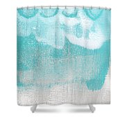 Like A Prayer- Abstract Painting Shower Curtain by Linda Woods