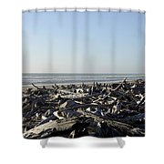 A Trees Boneyard Shower Curtain
