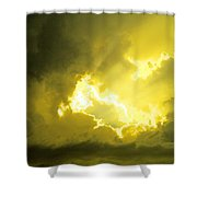 Like A Voice Through The Clouds Shower Curtain