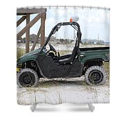 Lil Beach Jeep Shower Curtain