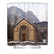Lil' Brown Church Shower Curtain