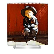 Lil Cowboy Afternoon Shower Curtain