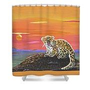 Lil' Leopard Shower Curtain
