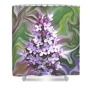 Lilac Abstract Shower Curtain