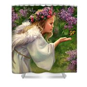 Lilac Angel Shower Curtain