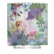 Lilac Enchanting Flower Fairy Shower Curtain