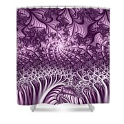 Lilac Fractal World Shower Curtain