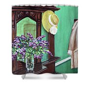 Lilac Time Shower Curtain