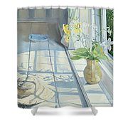 Lilies And A Straw Hat Shower Curtain