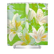 Lilies Greeting Card Shower Curtain