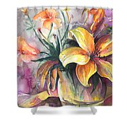Lilies In A Vase Shower Curtain