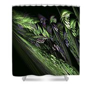 Lilies Of The Fractal Valley Shower Curtain