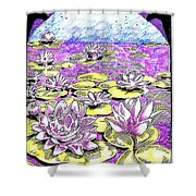 Lilies Of The Lake Shower Curtain