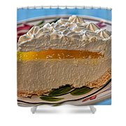 Lilikoi Cheese Pie Shower Curtain by Dan McManus