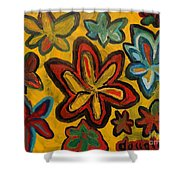 Lillies In Space Shower Curtain