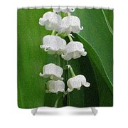 Lillies Of The Valley Cascade Shower Curtain