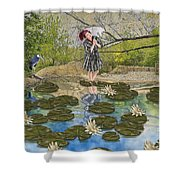 Lilly Pad Lane Shower Curtain