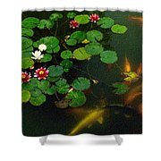 Lily 0147 - Colored Photo 1 Shower Curtain